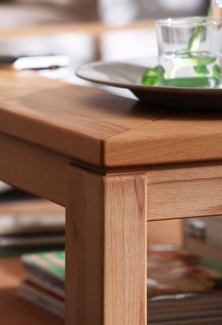 Tischkante Tischbein Casera kernbuche