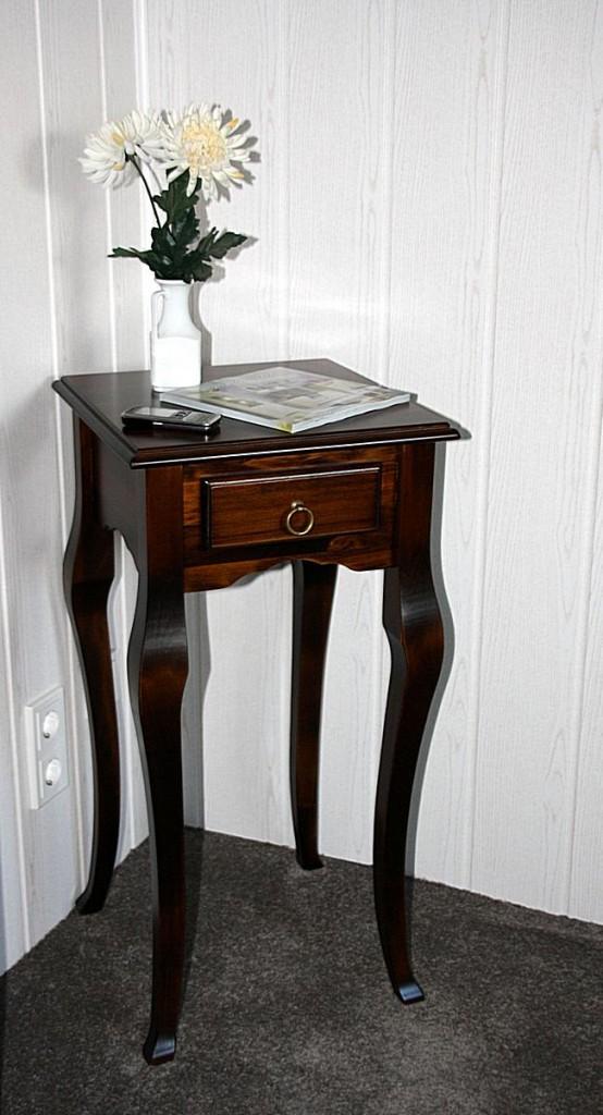 Wandtisch telefontisch beistelltisch tischen holz massiv for Wandtisch holz