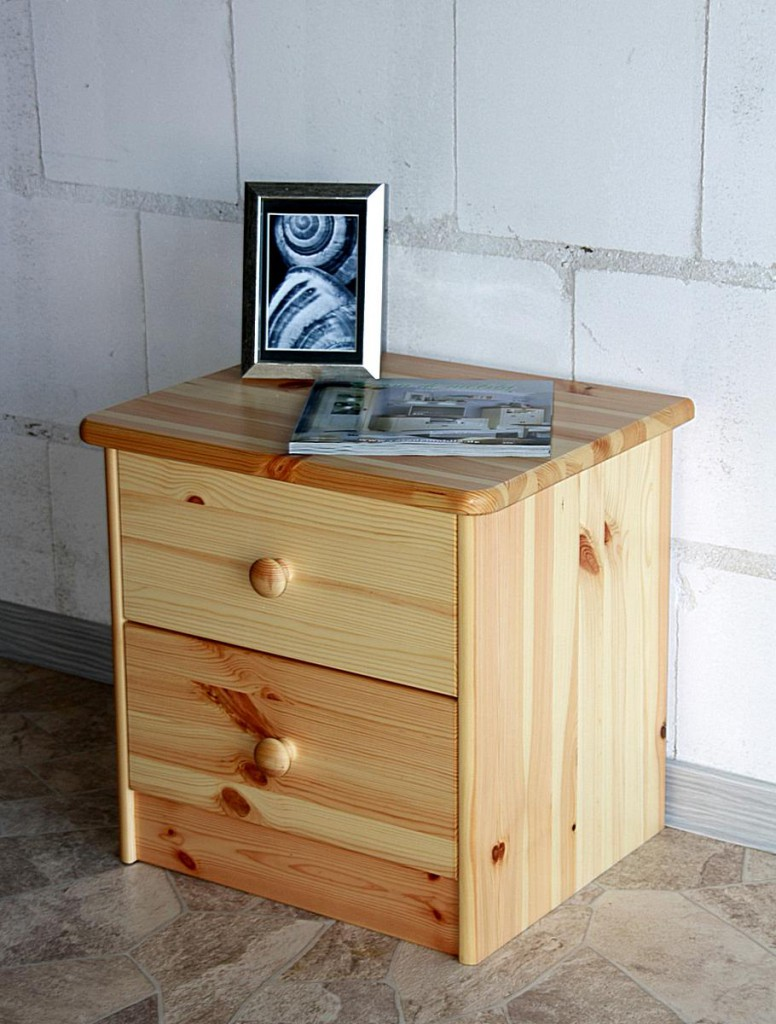 nachtkommode nachtschrank nachttisch natur lackiert kiefer massiv holz. Black Bedroom Furniture Sets. Home Design Ideas