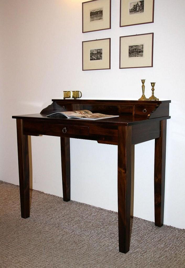 sekret r schminktisch schreibtisch massiv holz braun. Black Bedroom Furniture Sets. Home Design Ideas
