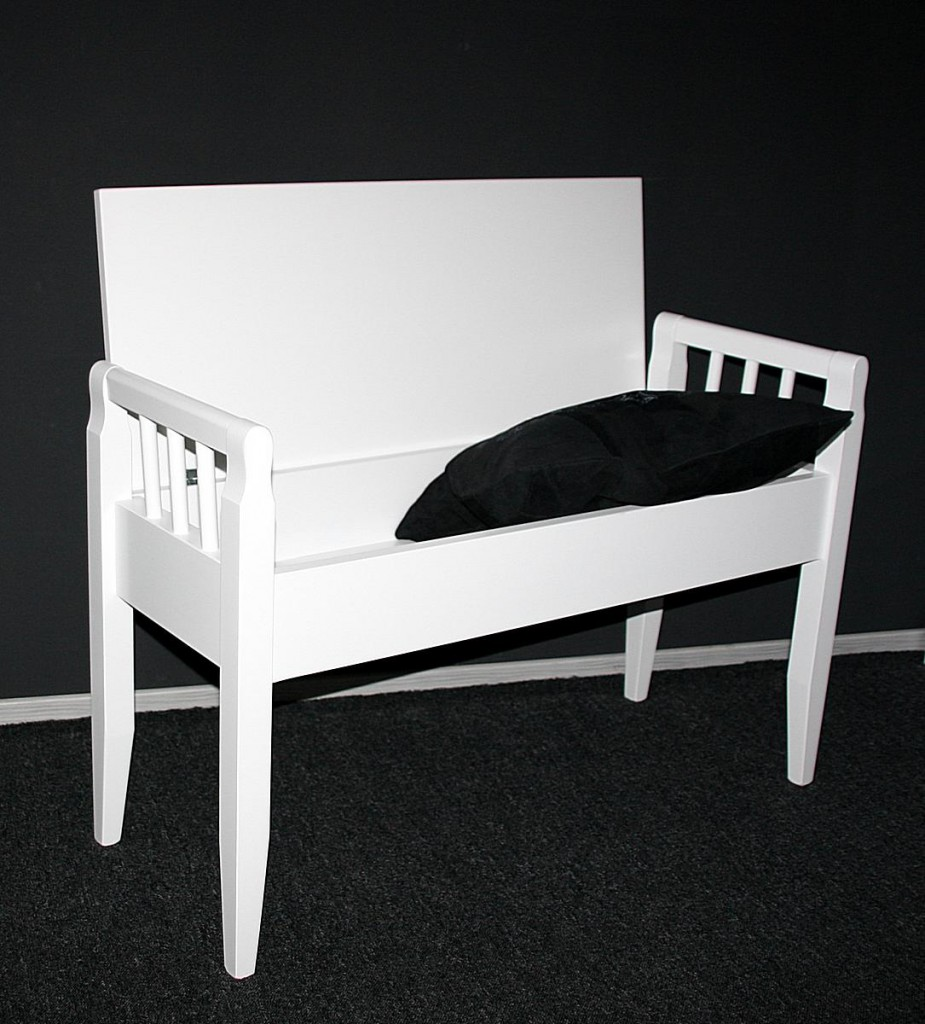 dielenbank truhenbank sitzbank weiss flurbank. Black Bedroom Furniture Sets. Home Design Ideas