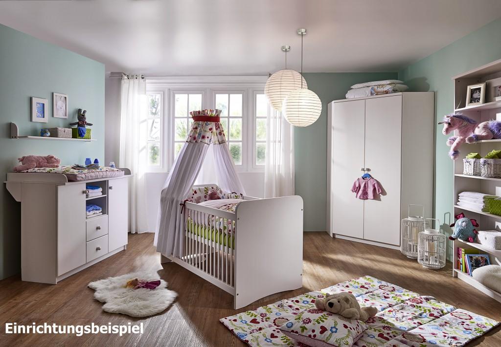 massivholz babybett wei kinderbett gitterbett babyzimmer m bel baby kiefer ebay. Black Bedroom Furniture Sets. Home Design Ideas