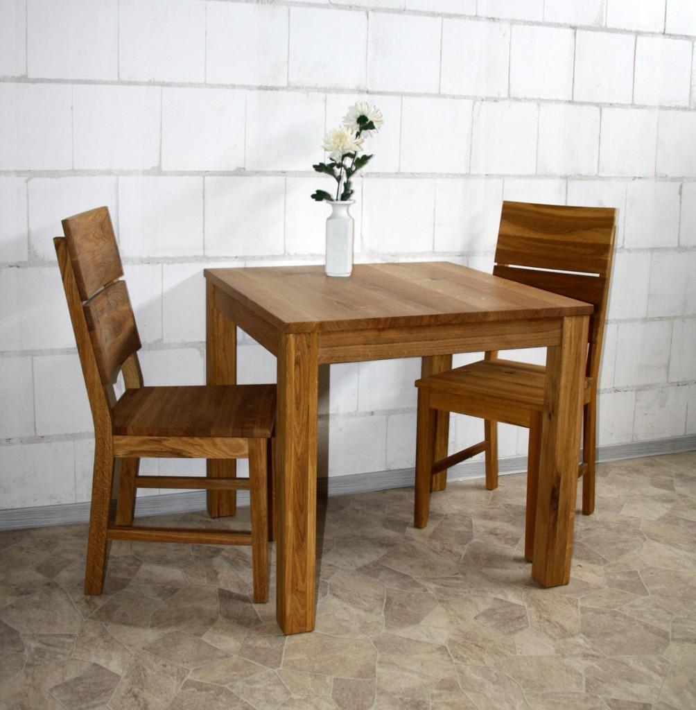massivholz esstisch 80x80 wildeiche l bar gastro tisch. Black Bedroom Furniture Sets. Home Design Ideas