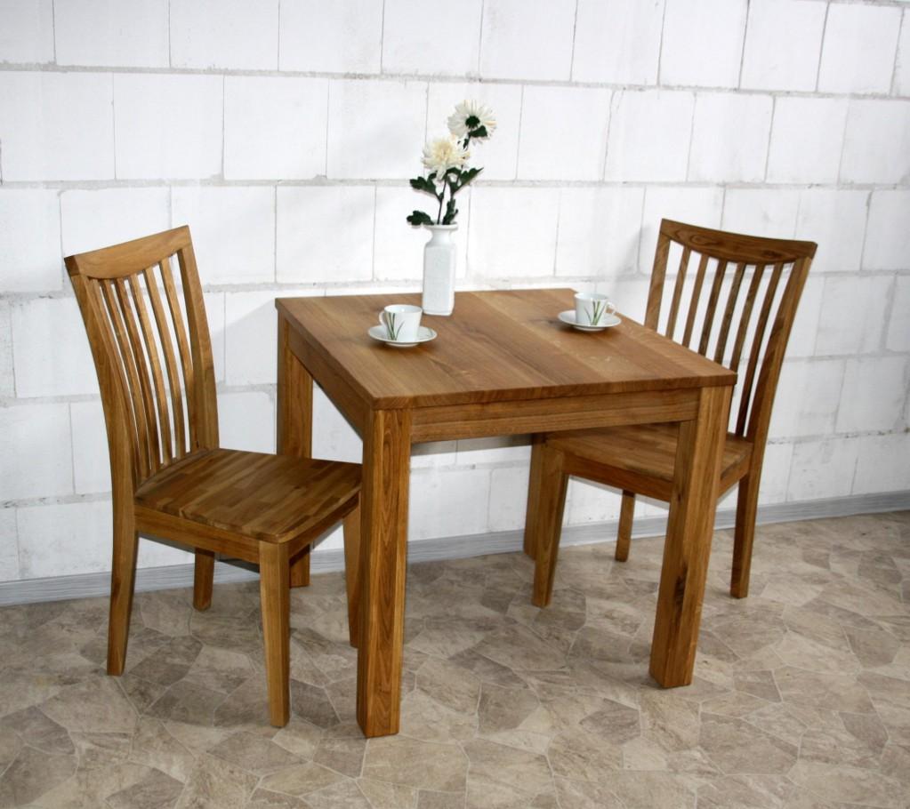 Massivholz esstisch 80x80 wildeiche l bar gastro tisch for Esstisch 80x80