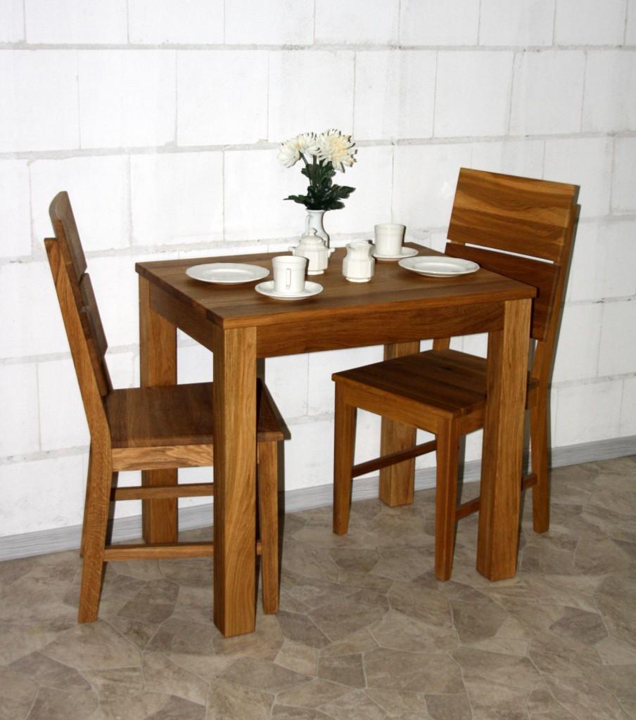 Massivholz esstisch 80x60cm wildeiche ge lt tisch schmal for Tisch schmal