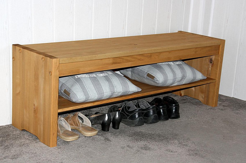 sitzbank bettbank flur bank schuh regal 140 massiv holz kiefer gelaugt ge lt. Black Bedroom Furniture Sets. Home Design Ideas