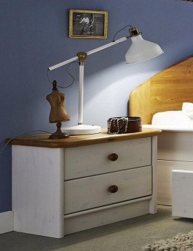 massivholz nachtkommode nachtschrank nachttisch holz kiefer massiv gelaugt. Black Bedroom Furniture Sets. Home Design Ideas