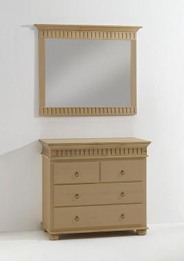 massivholz wandspiegel dielenspiegel flurspiegel mit holzrahmen spiegel mit massivem holzrahmen. Black Bedroom Furniture Sets. Home Design Ideas