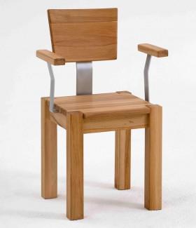 Massivholz Armlehnstuhl Stuhl mit Armlehne Kernbuche massiv geölt