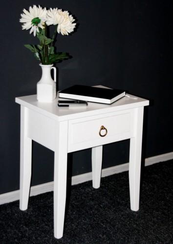 nachttisch nacht konsole blumentisch nachtschrank beistelltisch massiv holz wei ebay. Black Bedroom Furniture Sets. Home Design Ideas