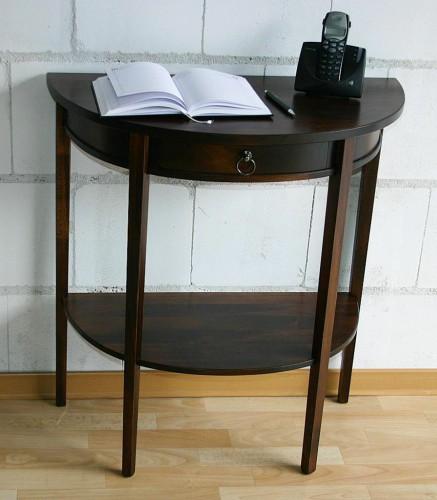 massivholz konsolentisch wandtisch beistelltisch halbrund - holz, Moderne