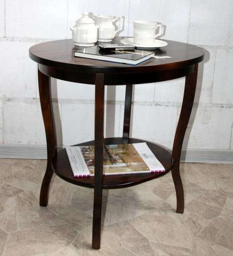 Massivholz beistelltisch teetisch rund tisch oval 57 holz - Beistelltisch kolonial ...