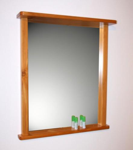 Wandspiegel Bad Flur Spiegel Mit Rahmen Und Ablage Massiv