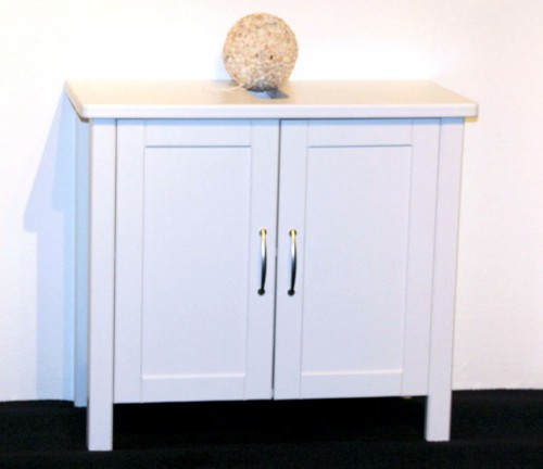 waschbecken schrank waschtisch unterschrank bad m bel massiv holz kiefer wei ebay. Black Bedroom Furniture Sets. Home Design Ideas