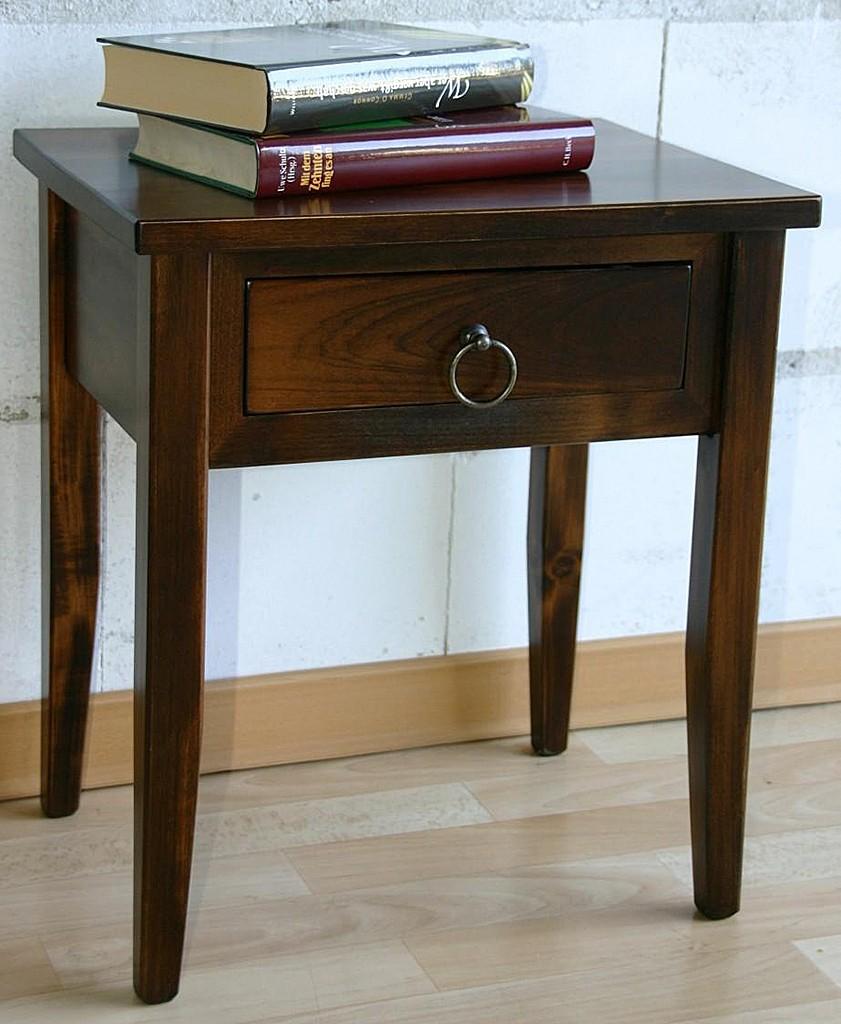 Nachttisch Beistelltisch Holz ~ Nachttisch Nachtkonsole Beistelltisch massiv holz wenge kolonial braun