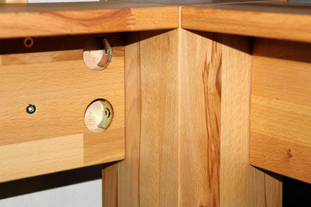 massivholz balkenbett holzbett bettgestell buche massiv holz 140x200 ge lt. Black Bedroom Furniture Sets. Home Design Ideas
