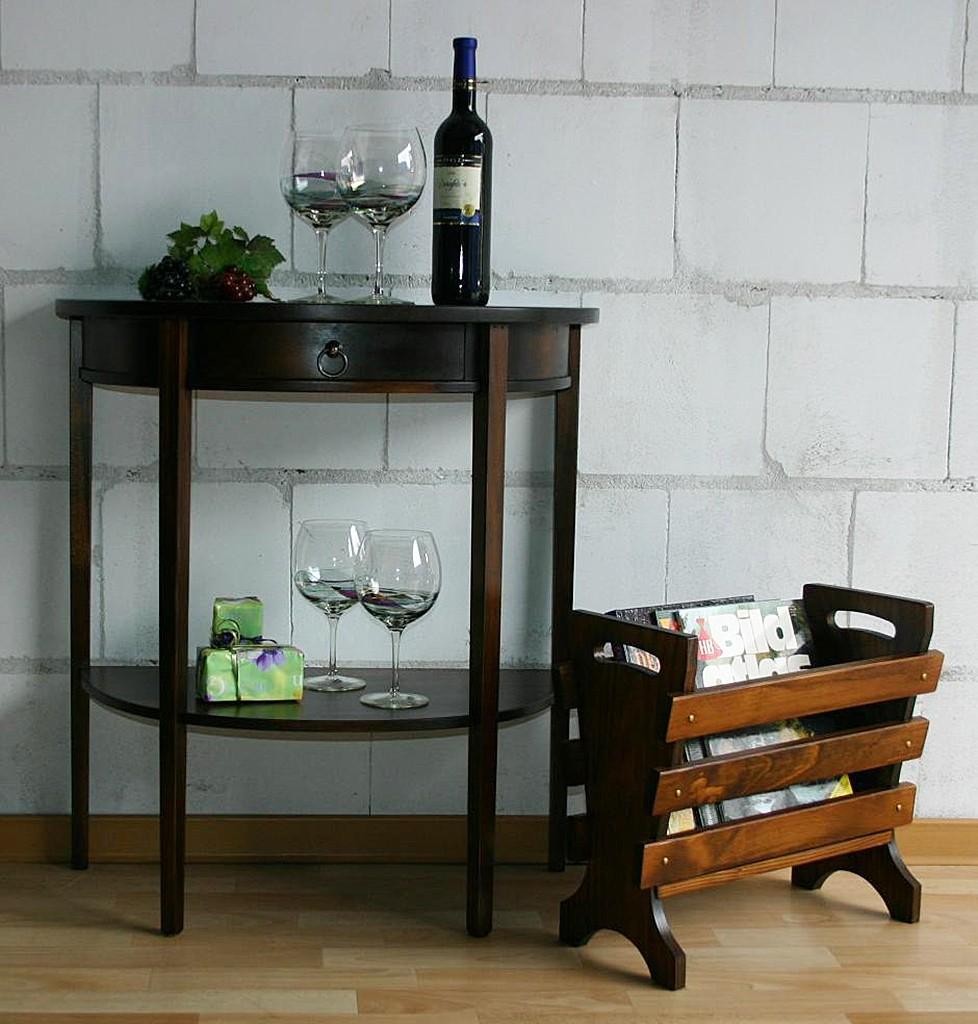 telefontisch konsolentisch beistelltisch halbrund massiv. Black Bedroom Furniture Sets. Home Design Ideas