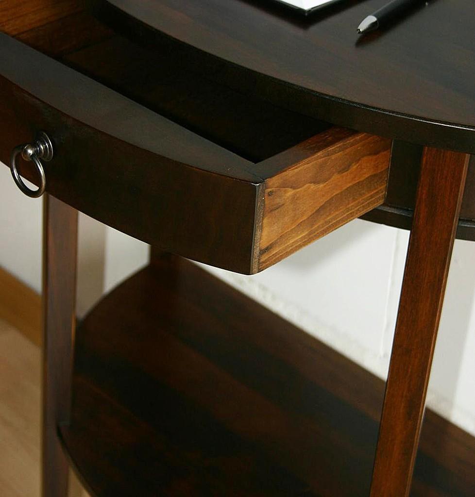 beistelltisch halbrund holz. Black Bedroom Furniture Sets. Home Design Ideas