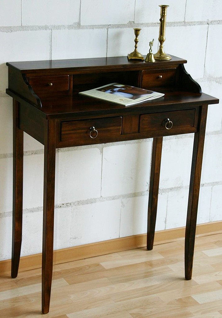 sekret r schreibtisch mit aufsatz wandtisch massiv holz. Black Bedroom Furniture Sets. Home Design Ideas