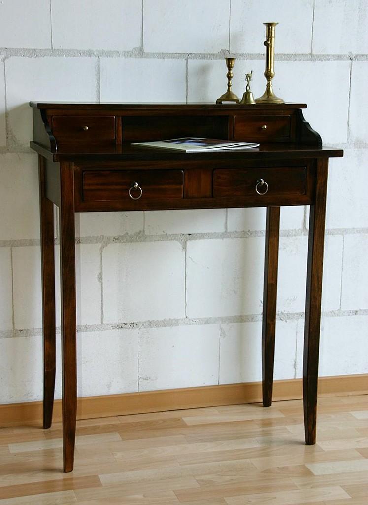 sekret r schreibtisch mit aufsatz wandtisch massiv holz kolonial braun nu baum ebay. Black Bedroom Furniture Sets. Home Design Ideas