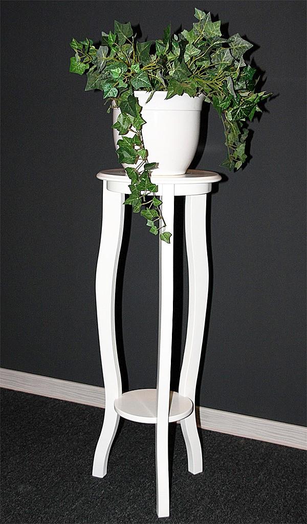 massivholz blumentisch blumenhocker blumens ule rund 80. Black Bedroom Furniture Sets. Home Design Ideas