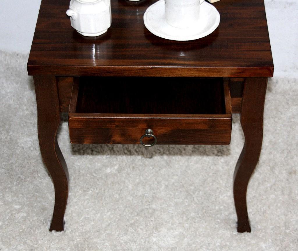 beistelltisch holz mit schublade. Black Bedroom Furniture Sets. Home Design Ideas