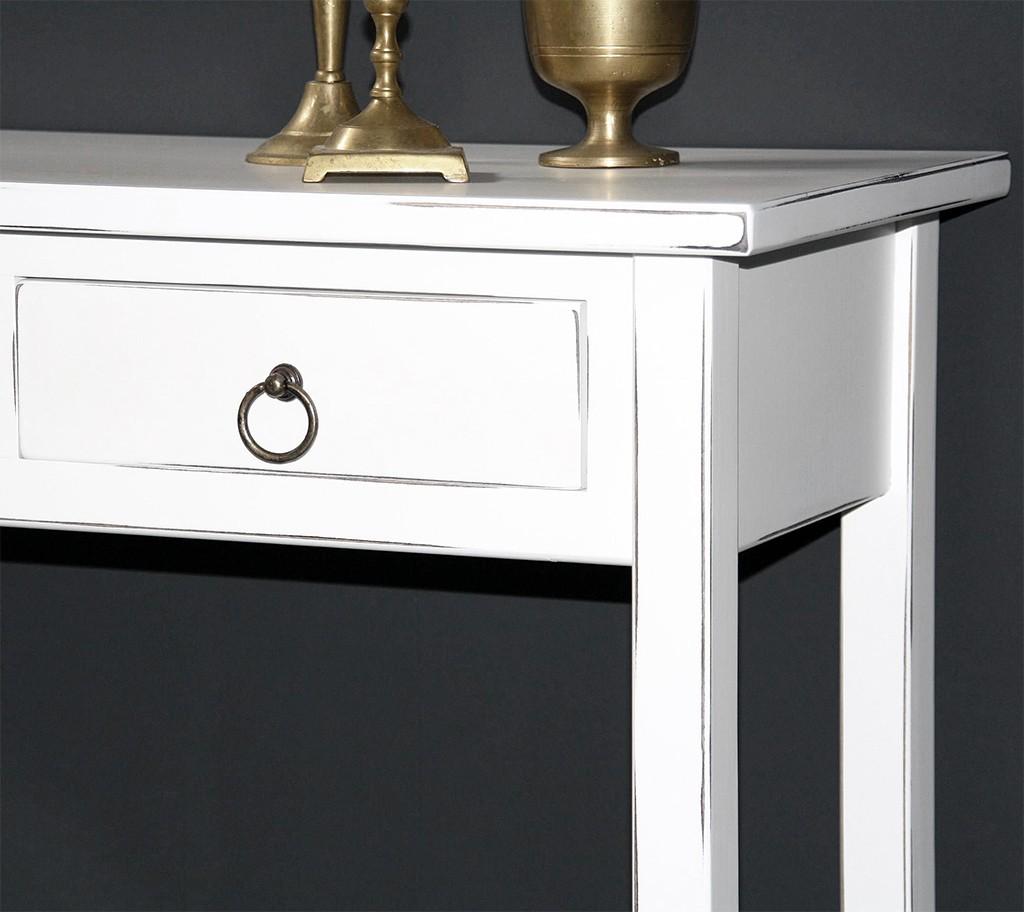 massivholz konsolentisch wandtisch beistelltisch telefontisch holz massiv wei antik. Black Bedroom Furniture Sets. Home Design Ideas