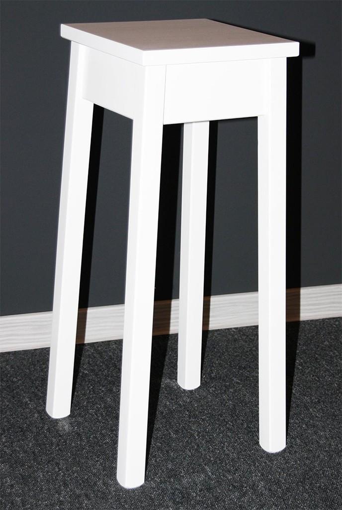 blumenst nder blumentisch beistelltisch blumenhocker 60 cm holz massiv wei ebay. Black Bedroom Furniture Sets. Home Design Ideas