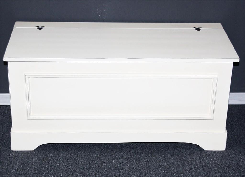 sitztruhe truhe w schetruhe 84 cm truhen dielen flur bank massiv holz wei antik ebay. Black Bedroom Furniture Sets. Home Design Ideas