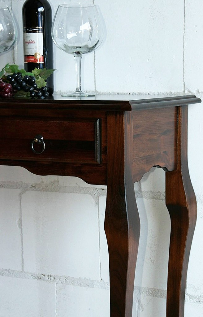 Konsolentisch wandtisch telefontisch schminktisch massiv for Wandtisch holz