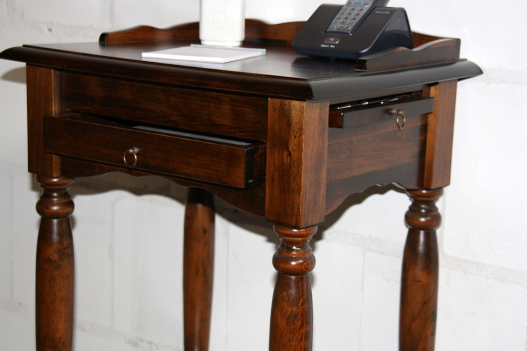 Massivholz Konsolentisch Telefontisch Beistelltisch Holz