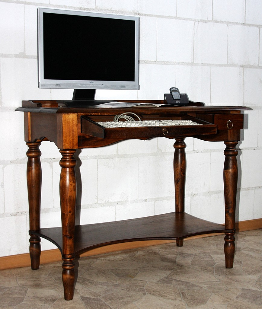 computertisch schreibtisch sekret r pc tisch massiv holz. Black Bedroom Furniture Sets. Home Design Ideas