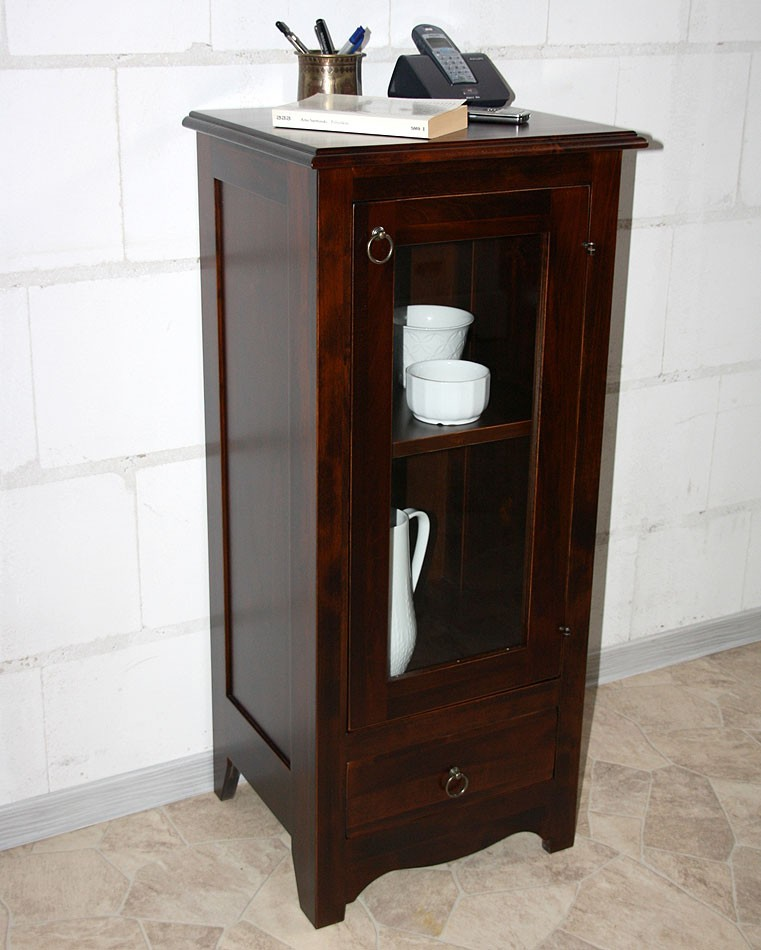vitrine standvitrine vitrinenschrank badschrank holz. Black Bedroom Furniture Sets. Home Design Ideas