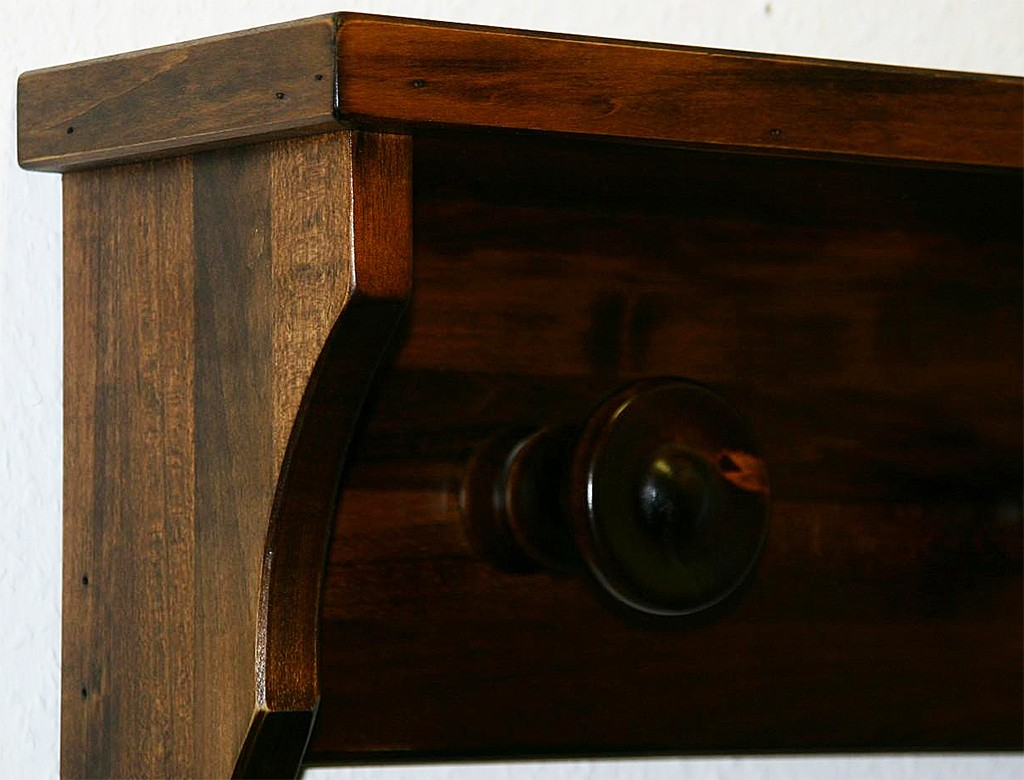 wandgarderobe h nge garderobe flur garderoben haken 7 holz. Black Bedroom Furniture Sets. Home Design Ideas
