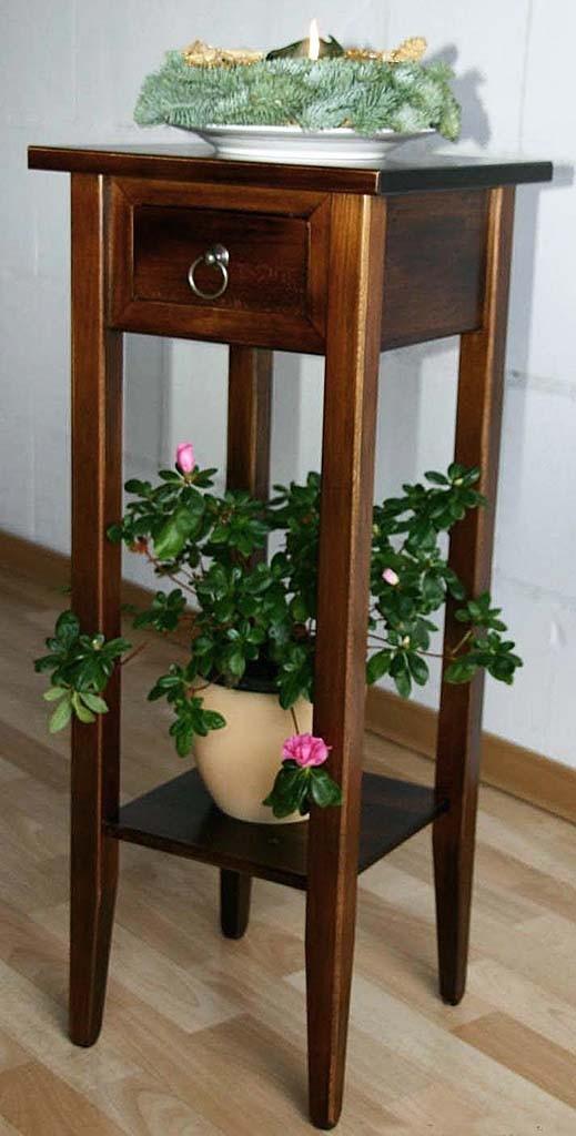 beistelltisch blumentisch pflanzentisch blumenhocker 80. Black Bedroom Furniture Sets. Home Design Ideas