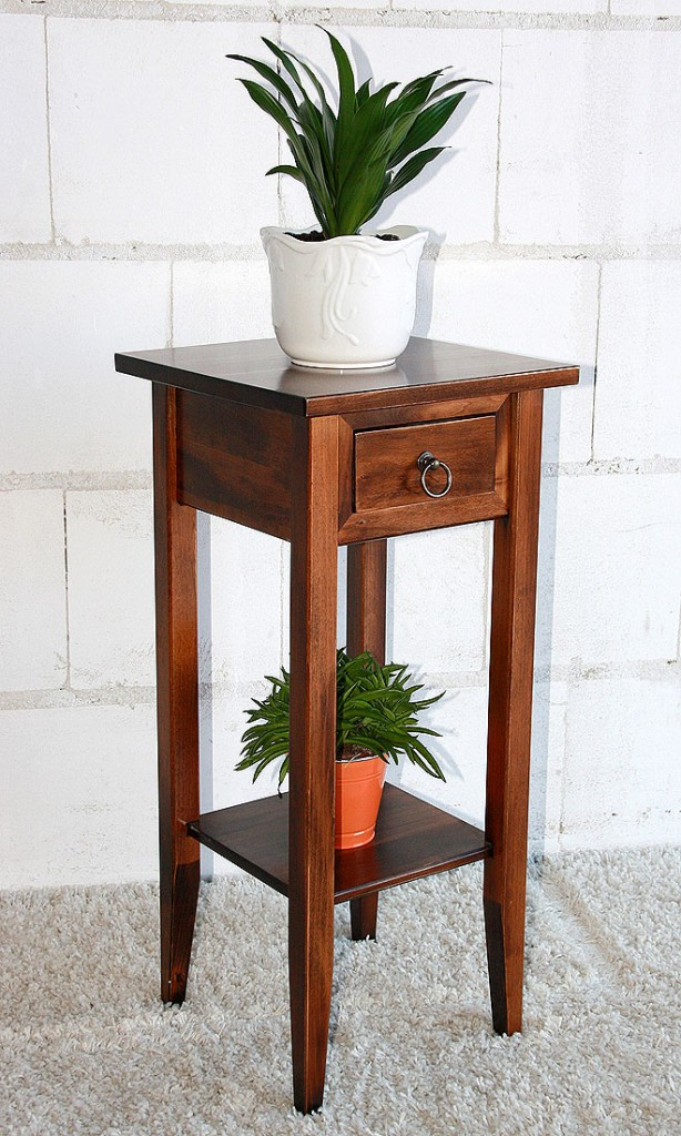 massivholz beistelltisch blumentisch blumenhocker 80 holz. Black Bedroom Furniture Sets. Home Design Ideas