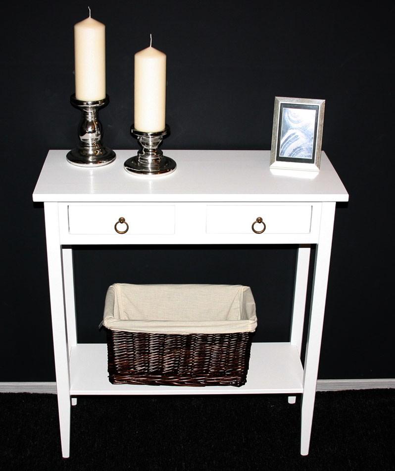 massivholz telefontisch konsolentisch wandtisch beistelltisch holz massiv wei ebay. Black Bedroom Furniture Sets. Home Design Ideas