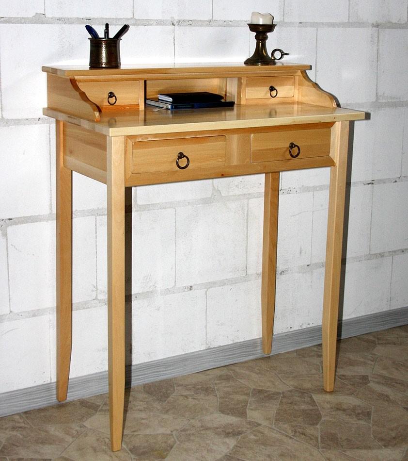 massivholz sekret r schreibtisch mit 4 schubladen holz massiv natur lackiert ebay. Black Bedroom Furniture Sets. Home Design Ideas