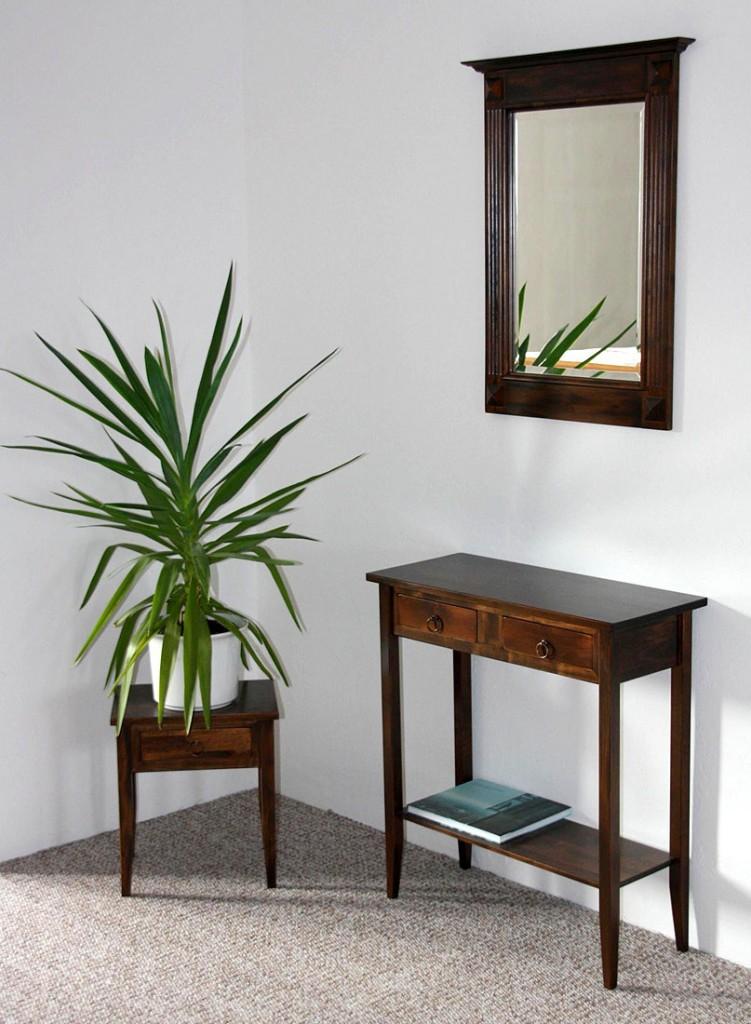 massivholz spiegel mit holzrahmen wandspiegel. Black Bedroom Furniture Sets. Home Design Ideas