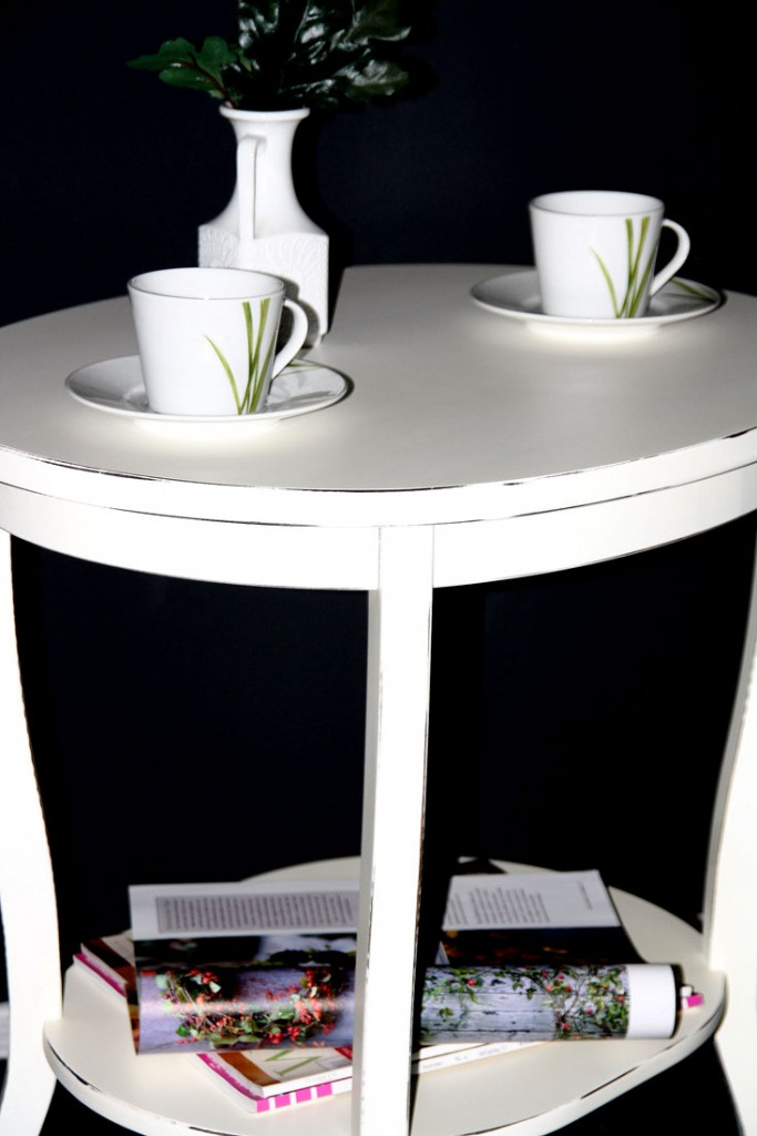 massivholz tisch beistelltisch teetisch oval 57 holz. Black Bedroom Furniture Sets. Home Design Ideas
