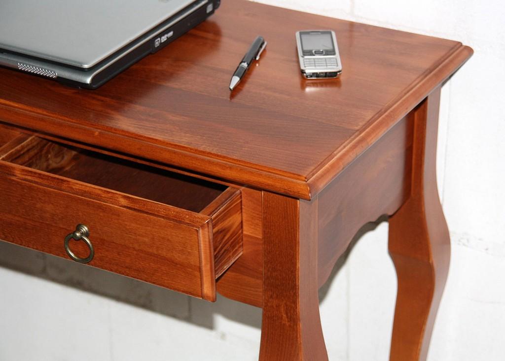 wandtisch konsolentisch telefontisch flur tisch konsole kirschfarben massiv holz ebay. Black Bedroom Furniture Sets. Home Design Ideas