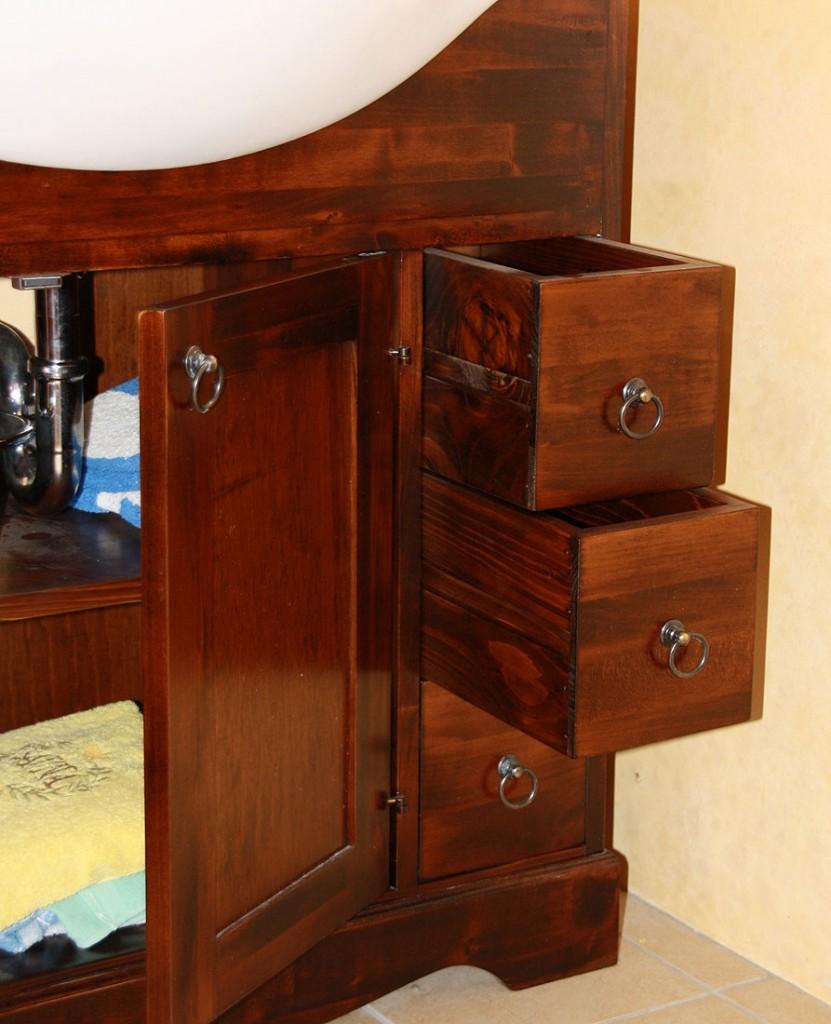 badm bel set komplett badezimmer m bel nu baum kolonial braun massiv holz. Black Bedroom Furniture Sets. Home Design Ideas