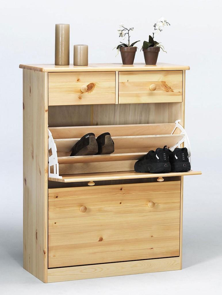 massivholz schuhkommode schuhkipper kiefer massiv lackiert schuhschrank. Black Bedroom Furniture Sets. Home Design Ideas