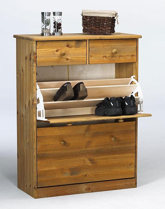 massivholz schuhschrank schuhkipper schuhkommode kiefer. Black Bedroom Furniture Sets. Home Design Ideas