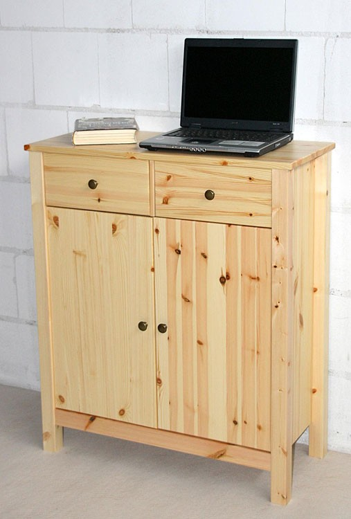 kommode flurkommode schrank sideboard anrichte massiv holz kiefer natur lackiert ebay. Black Bedroom Furniture Sets. Home Design Ideas