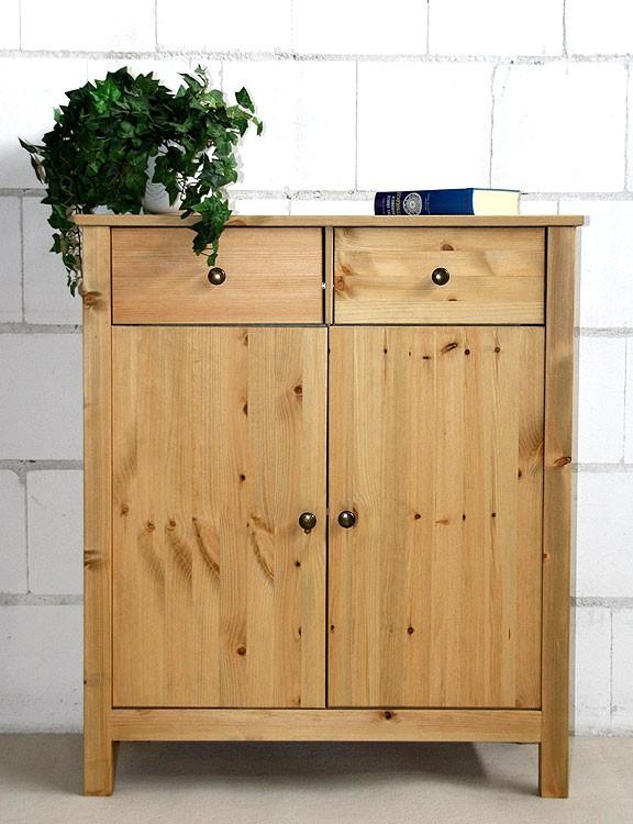 dielenkommode flur schrank anrichte sideboard massiv holz kiefer gelaugt ge lt ebay. Black Bedroom Furniture Sets. Home Design Ideas
