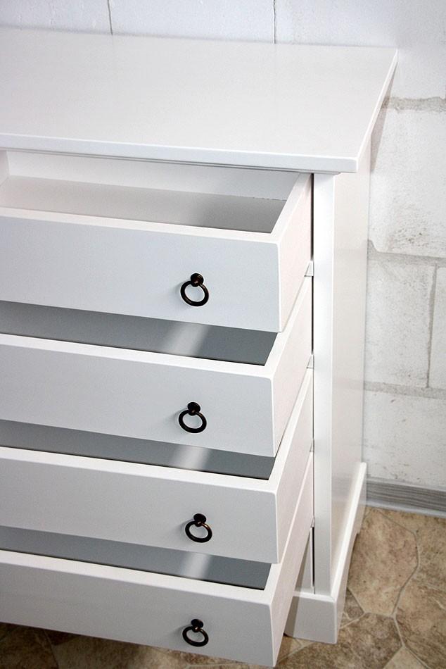 massivholz schubladenkommode kommode decor mit 5. Black Bedroom Furniture Sets. Home Design Ideas