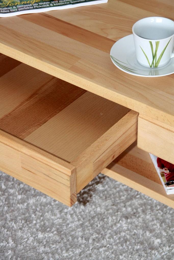 massivholz couchtisch 115x70 wohnzimmertisch 1 schubkasten kernbuche massiv ge lt. Black Bedroom Furniture Sets. Home Design Ideas
