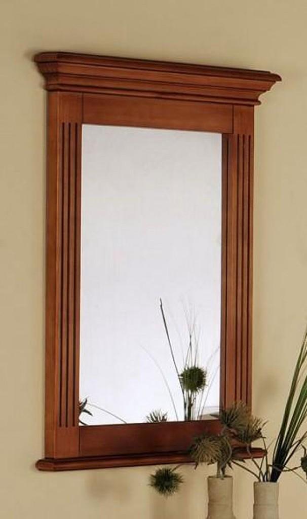 spiegel flur wandspiegel spiegelrahmen 60x80cm holz pinie massiv bernsteinfarben ebay. Black Bedroom Furniture Sets. Home Design Ideas