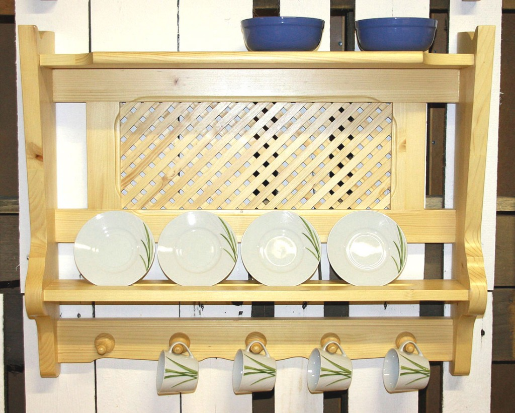 Gewürzregal tellerboard teller regal küchen bord wandregal holz ...
